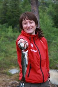 Gleden er stor - om fangsten er stor eller liten (foto: Rolf Jøran Forsmo)