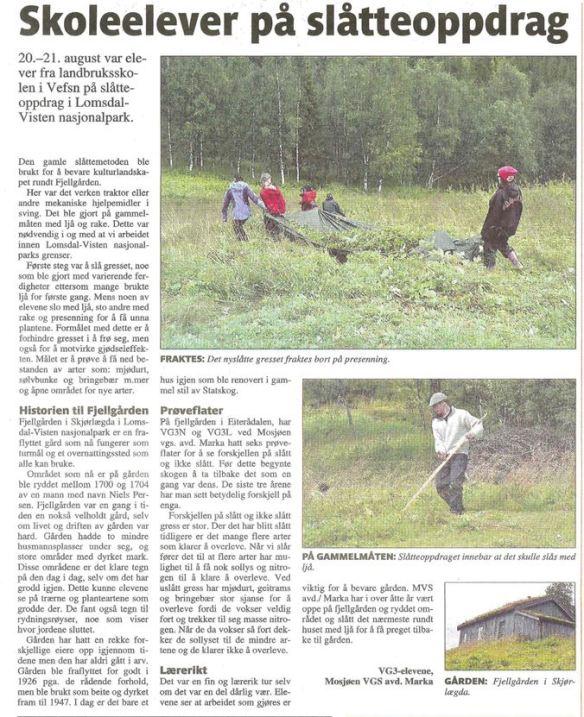Faksimile fra Helgeland Arbeiderblad 23.08.13
