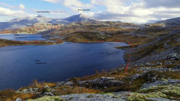 Veivalg ved Lappskardvatnan (foto: Kjell Iver Johansen)
