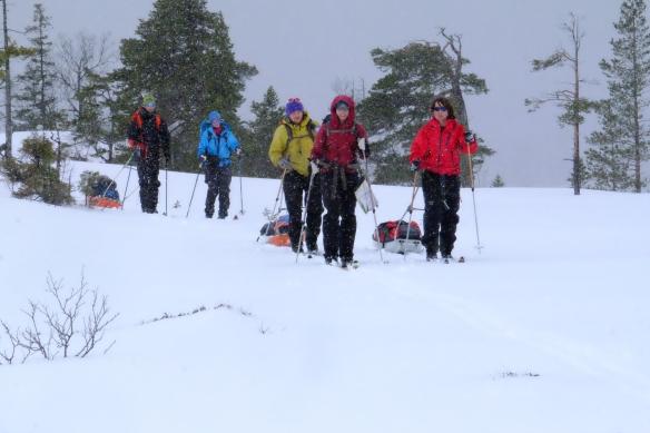 Og joda - det går fint å ha fine turer selv om det er litt snø i lufta!